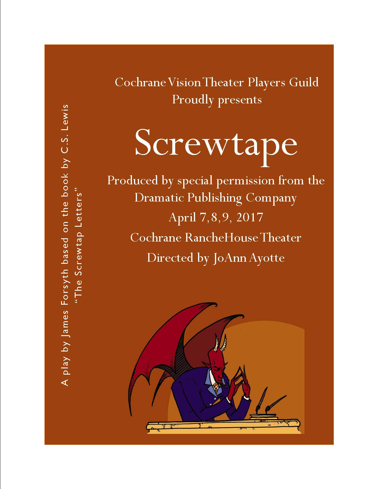 Screwtape play poster